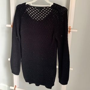 H&M Long Black Knit Sweater